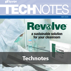 Texwipe Revolve Technotes of the sustainable solution for your cleanroom